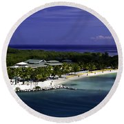 Caribbean Breeze Ten Round Beach Towel