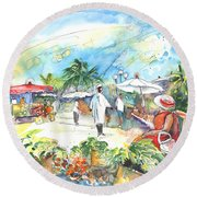 Caribbean Market Round Beach Towel