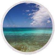 Caribbean Ocean Panorama Round Beach Towel