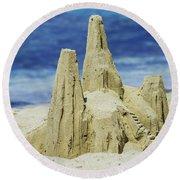 Caribbean Sand Castle  Round Beach Towel