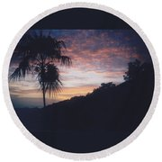 Caribbean Sunset Round Beach Towel