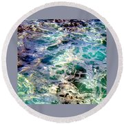 Caribbean Waters Round Beach Towel