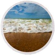 Caribbean Waves Round Beach Towel