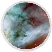 Carina Nebula #4 Round Beach Towel