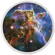 Carina Nebula 6 Round Beach Towel