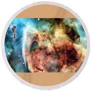 Carina Nebula - Deep Space Round Beach Towel