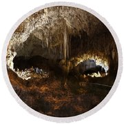 Carlsbad Caverns #3 Round Beach Towel