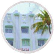 Carlyle Hotel Round Beach Towel