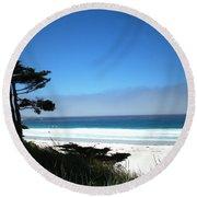 Carmel Beach California Usa Round Beach Towel