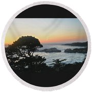 Carmel's Scenic Beauty Round Beach Towel