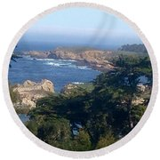 Carmel's Coastline Round Beach Towel