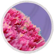 Carnation Round Beach Towel