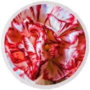 Carnation Watercolor Round Beach Towel