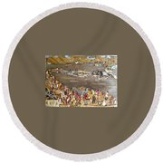 Carnival At River Round Beach Towel