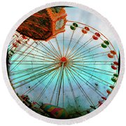 Carnival Colors Round Beach Towel