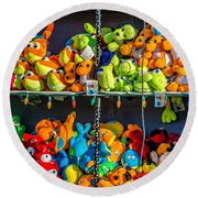 Carnival Critters Round Beach Towel