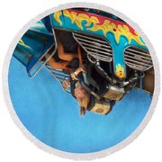 Carnival - Ride - The Thrill Of The Carnival  Round Beach Towel