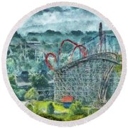Carnival - The Thrill Ride Round Beach Towel