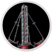 Carnival Towers Round Beach Towel