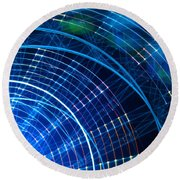 Carnival Trails Round Beach Towel