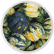 Carnival Winter Squash At The Market Round Beach Towel