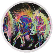 Carnivale Round Beach Towel