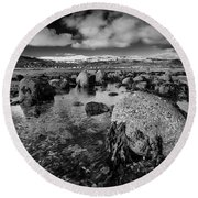 Carnlough Bay Round Beach Towel