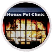 Carol House Quick Fix Pet Clinic Round Beach Towel