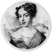 Caroline Unger-sabatier (1803-1877) Round Beach Towel