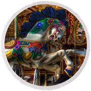 Carousel Beauty Ready To Roll Round Beach Towel