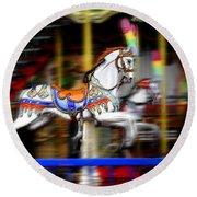 Carousel Horse Round Beach Towel