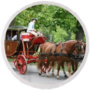 Carriage Round Beach Towel