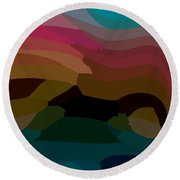 Carribbean Dusk Round Beach Towel