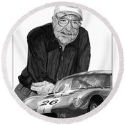 Carroll Shelby    Rest In Peace Round Beach Towel