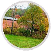 Carrollton Covered Bridge 2 Round Beach Towel