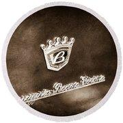 Carrozzeria Boano Emblem Round Beach Towel