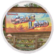 Cars Land Round Beach Towel