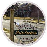 Carter Run Inn 1 Round Beach Towel