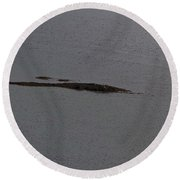 Cartoon - A Small Island In The Water Of A Lake In The Scottish Highlands Round Beach Towel