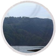 Cartoon - Loch Duich And The Surroundings In Scotland Round Beach Towel