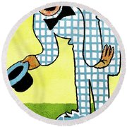 Cartoon 02 Round Beach Towel by Svetlana Sewell