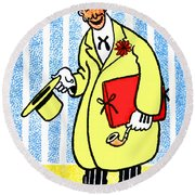Cartoon 04 Round Beach Towel