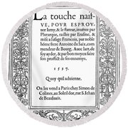 Cartouches, 1537 Round Beach Towel