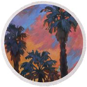 Casa Tecate Sunrise Round Beach Towel