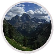 Cascade Canyon North Fork Round Beach Towel