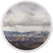 Cascade Panorama Round Beach Towel