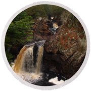Cascade River Round Beach Towel by James Peterson