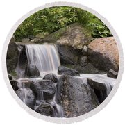 Cascade Waterfall Round Beach Towel