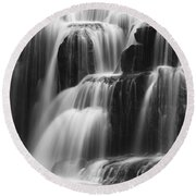 Cascades Of Lower Lewis Falls Round Beach Towel