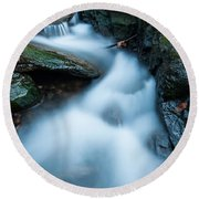 Cascades - Spruce Brook Twilight Round Beach Towel
